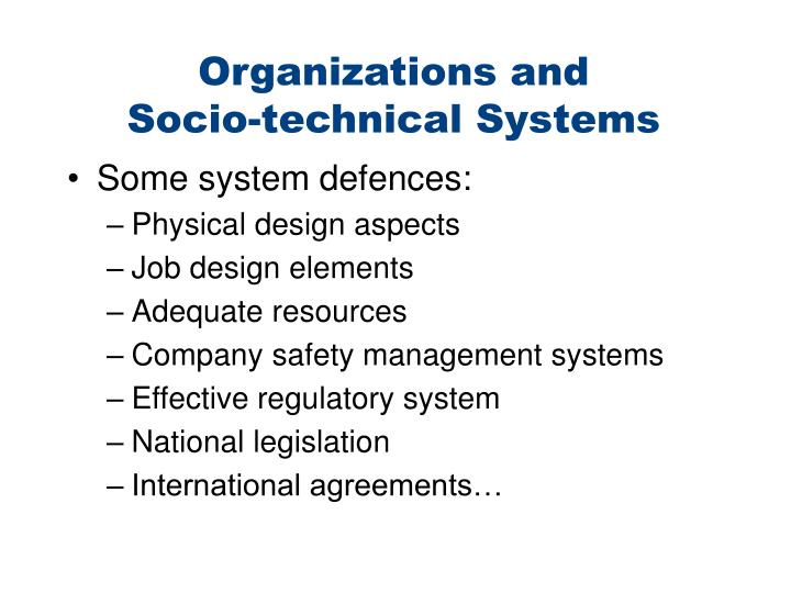 Organizations and