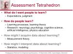 assessment tetrahedron