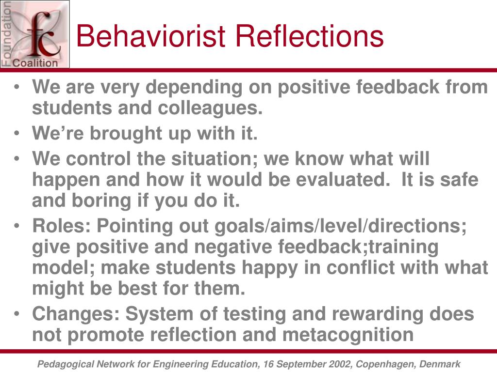 Behaviorist Reflections