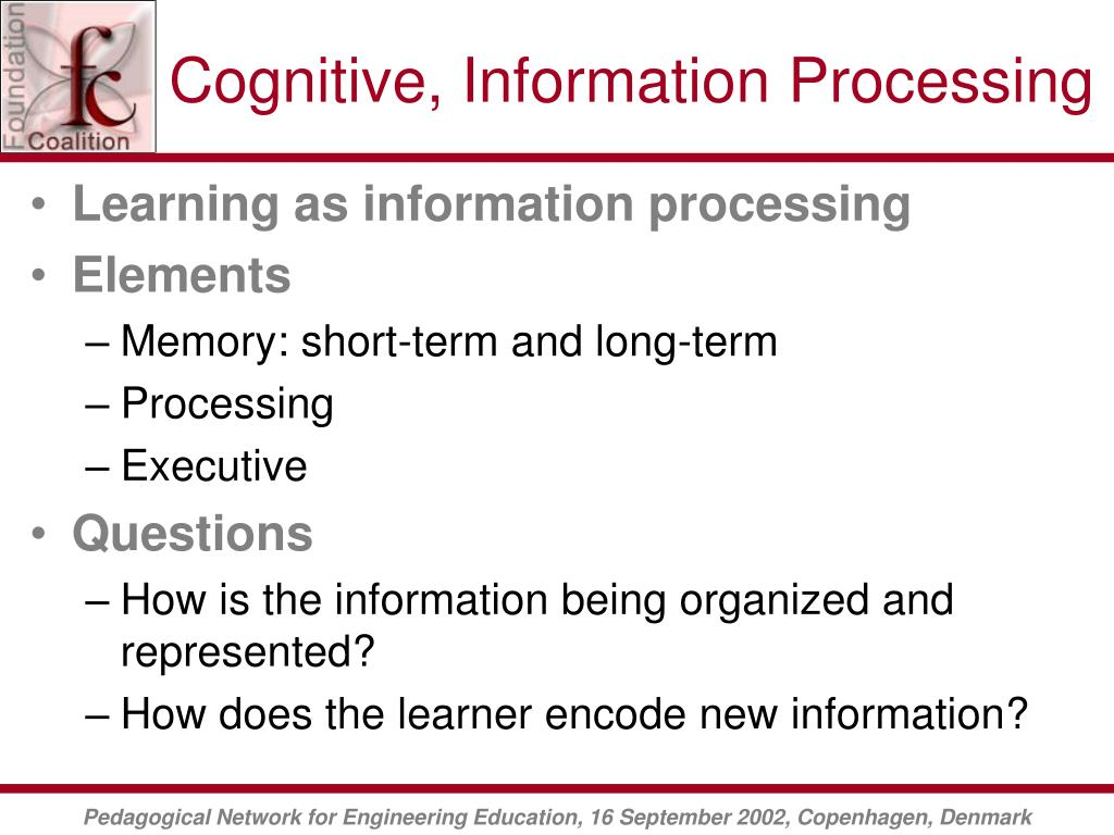 Cognitive, Information Processing
