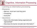 cognitive information processing57