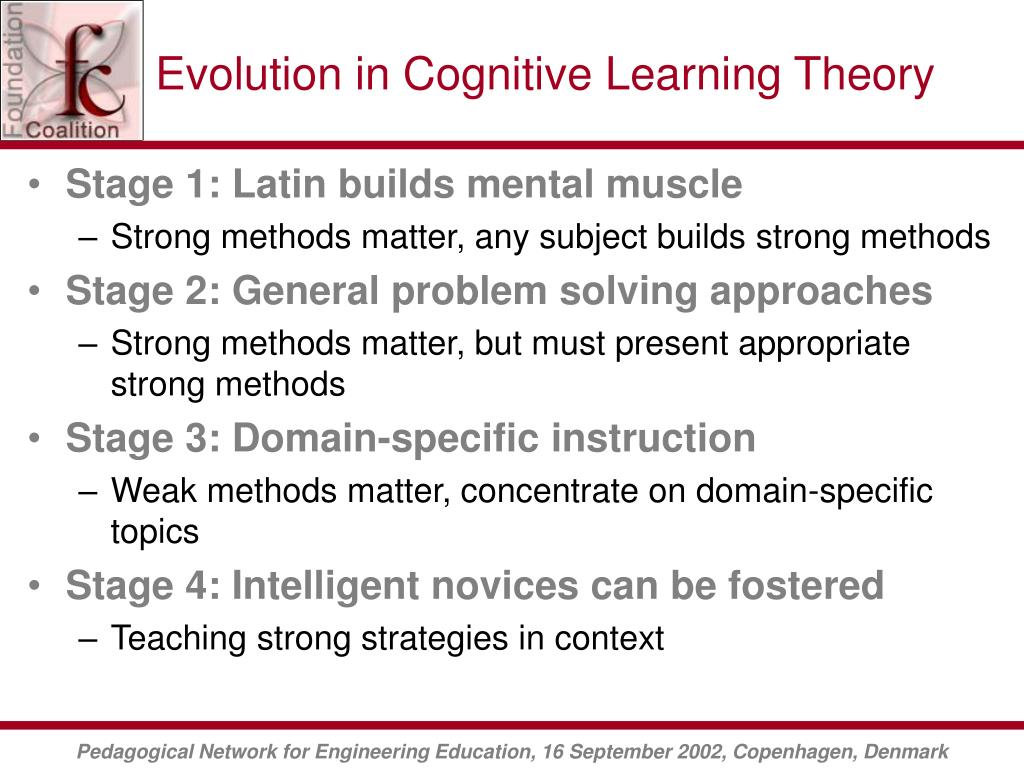 Evolution in Cognitive Learning Theory