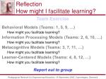 reflection how might i facilitate learning