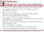 reflection model for learning and teaching24