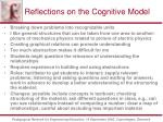 reflections on the cognitive model