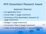 Apa Dissertation