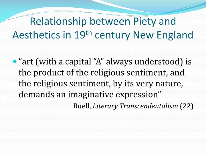 Relationship between Piety and Aesthetics in 19