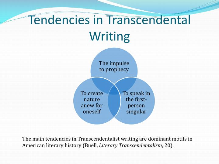 Tendencies in Transcendental Writing