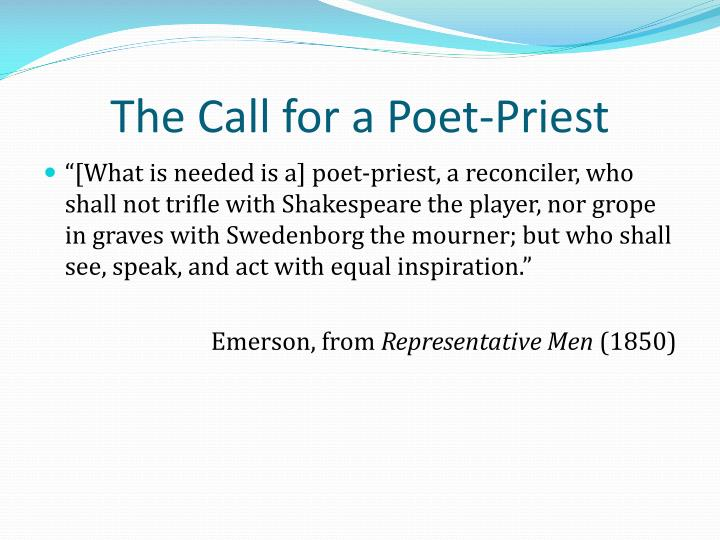 The Call for a Poet-Priest
