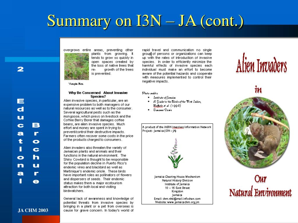Summary on I3N – JA (cont.)