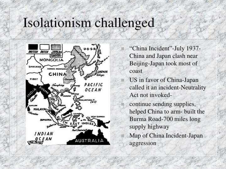 Isolationism challenged