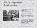 the development of totalitarianism1