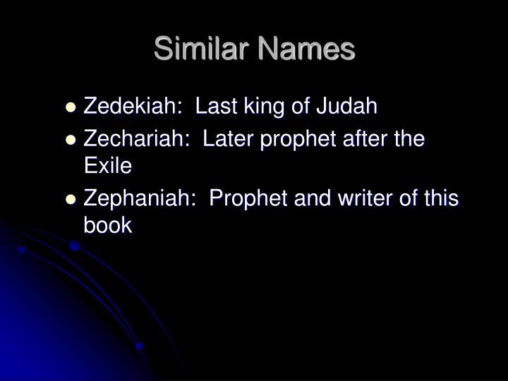 Similar Names