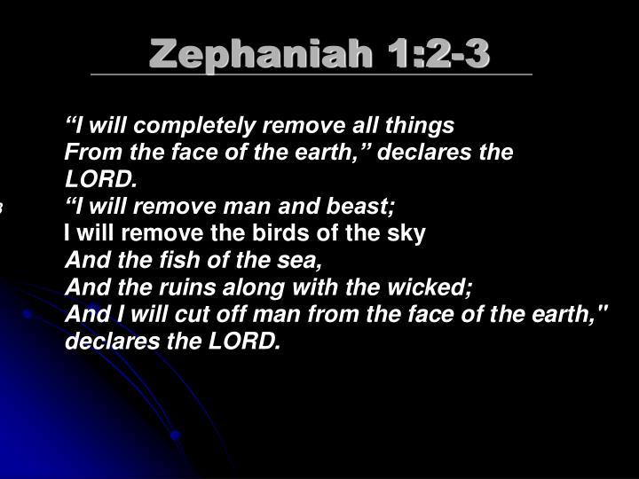 Zephaniah 1:2-3