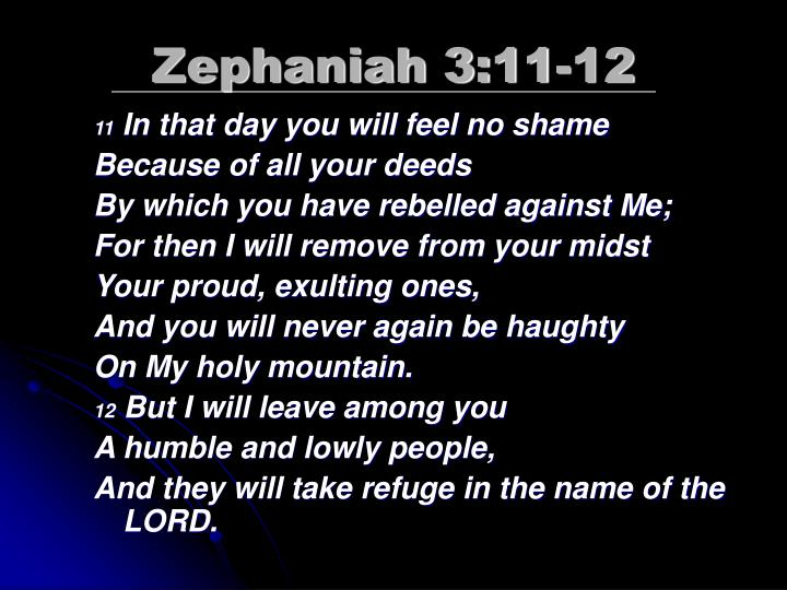 Zephaniah 3:11-12