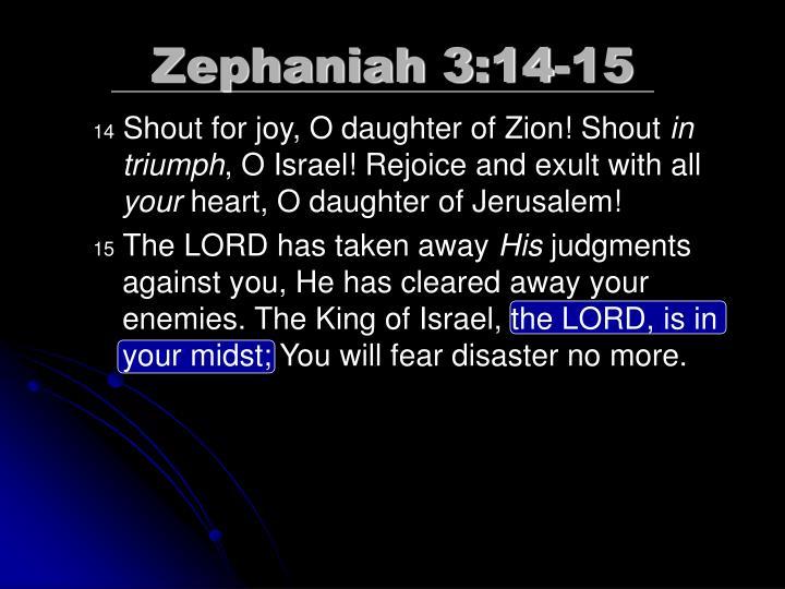 Zephaniah 3:14-15