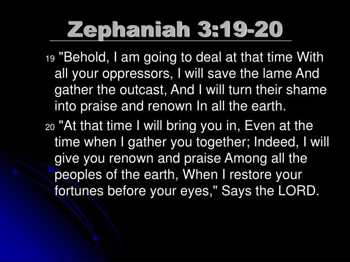 Zephaniah 3:19-20