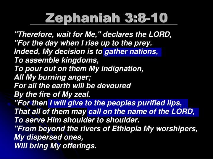 Zephaniah 3:8-10