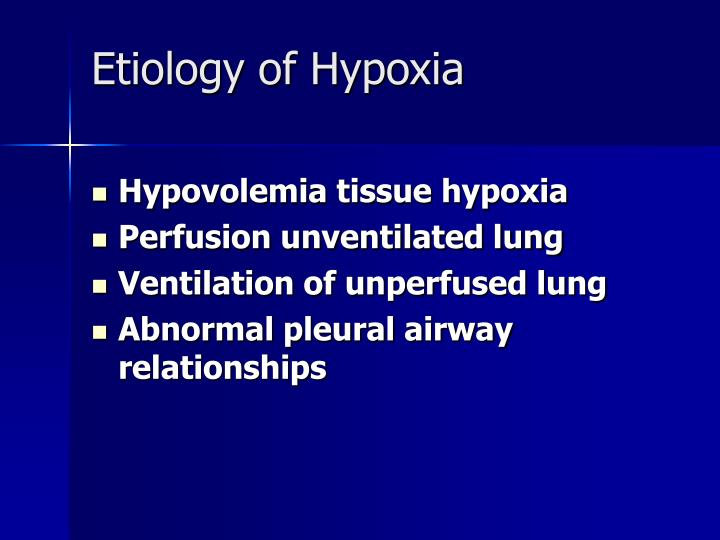 Etiology of Hypoxia
