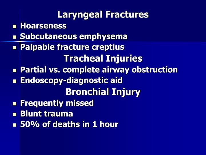 Laryngeal Fractures