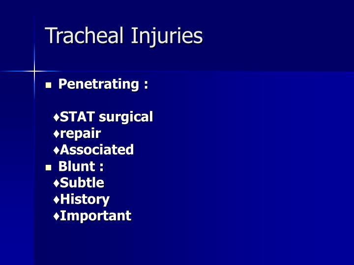Tracheal Injuries