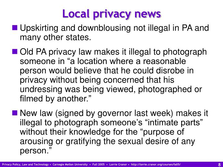 Local privacy news