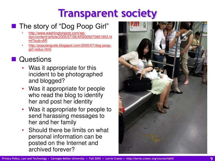 Transparent society