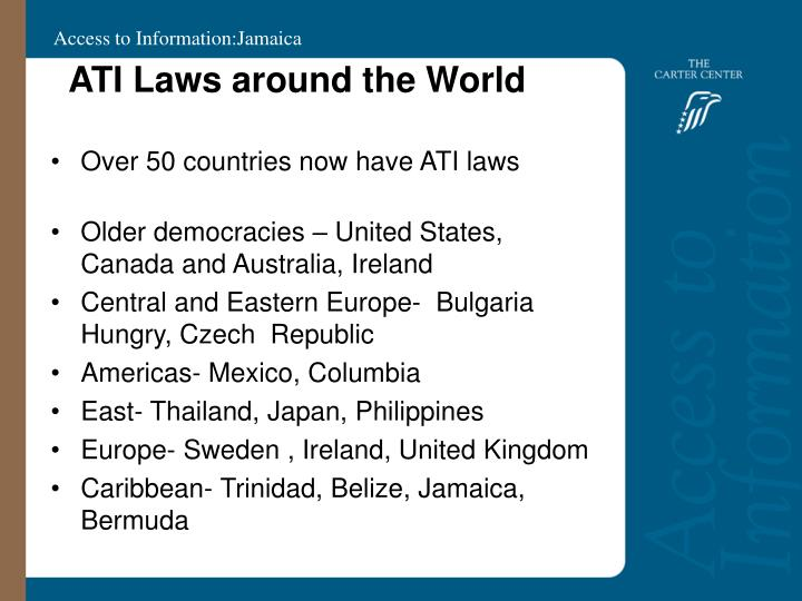 Ati laws around the world