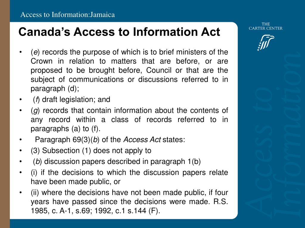 Canada's Access to Information Act