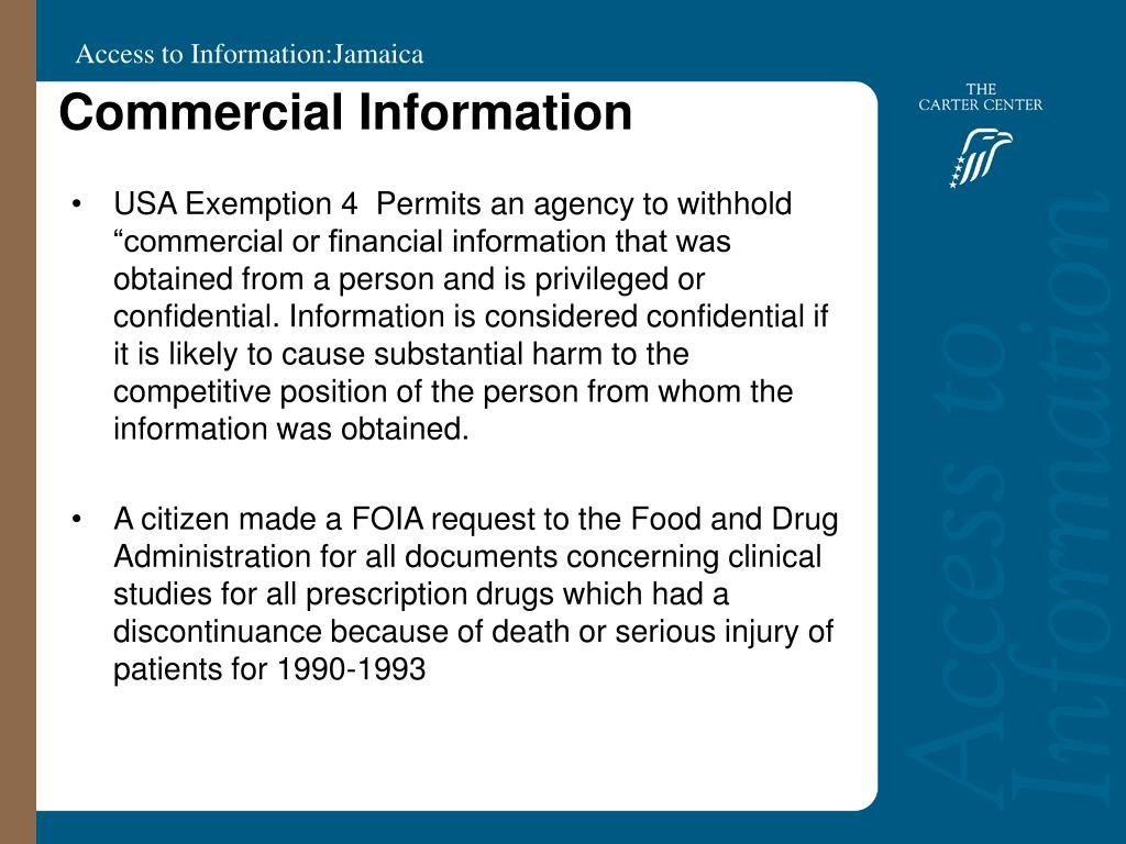 Commercial Information