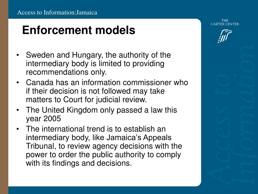 Enforcement models