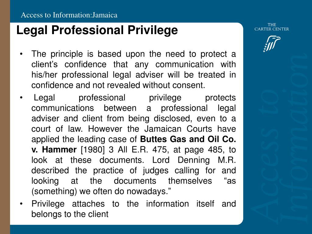 Legal Professional Privilege
