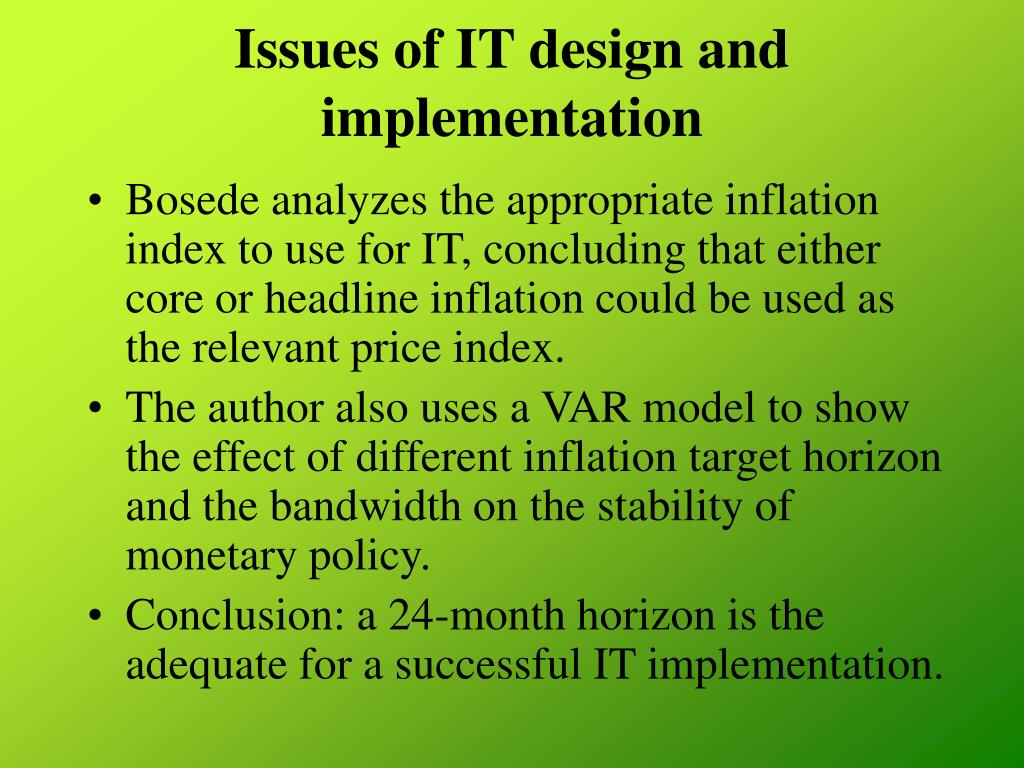 Issues of IT design and implementation