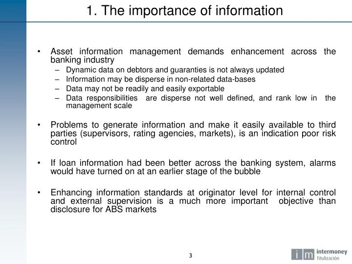 1. The importance of information