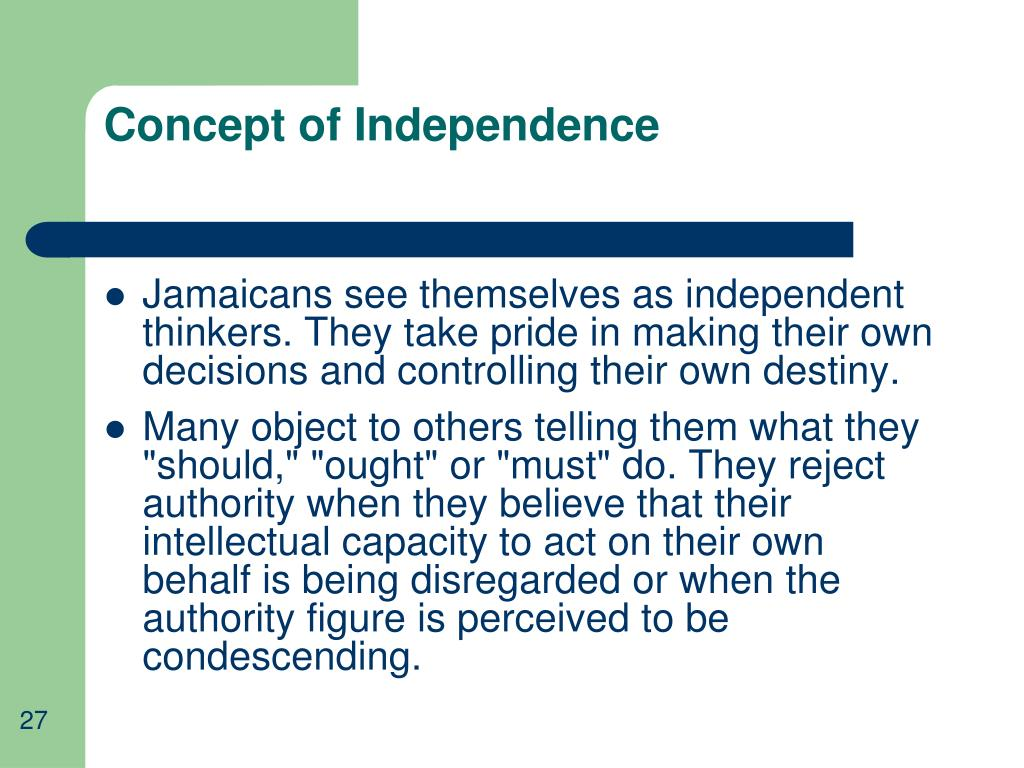 Concept of Independence