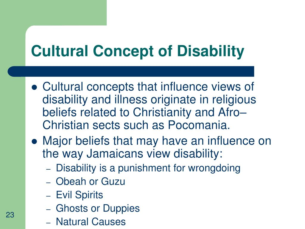Cultural Concept of Disability