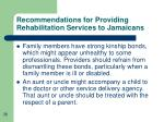 recommendations for providing rehabilitation services to jamaicans38