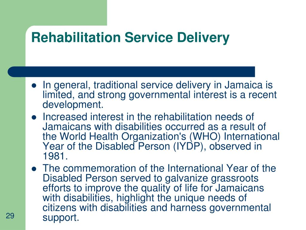 Rehabilitation Service Delivery
