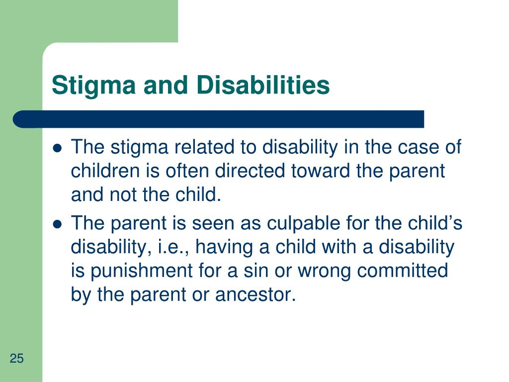 Stigma and Disabilities