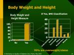 body weight and height
