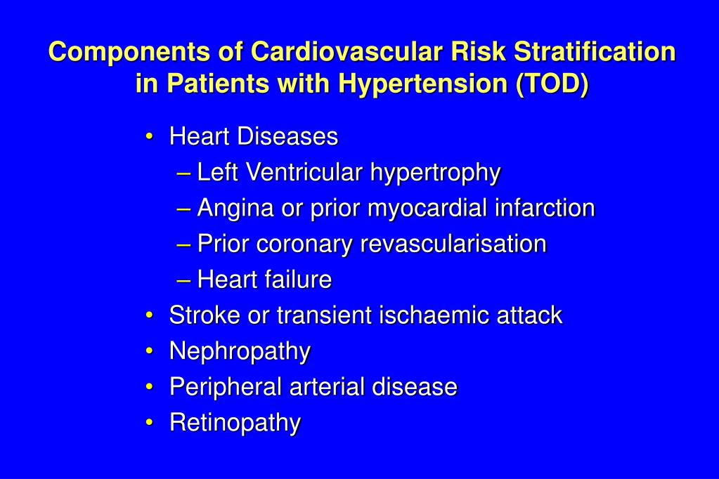 Components of Cardiovascular Risk Stratification in Patients with Hypertension (TOD)