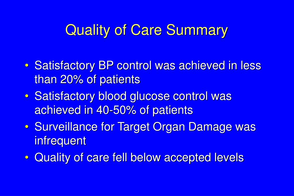 Quality of Care Summary