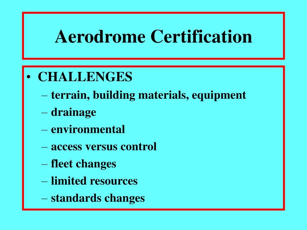Aerodrome Certification