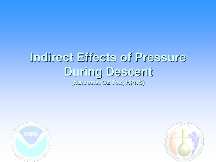 Indirect Effects of Pressure During Descent
