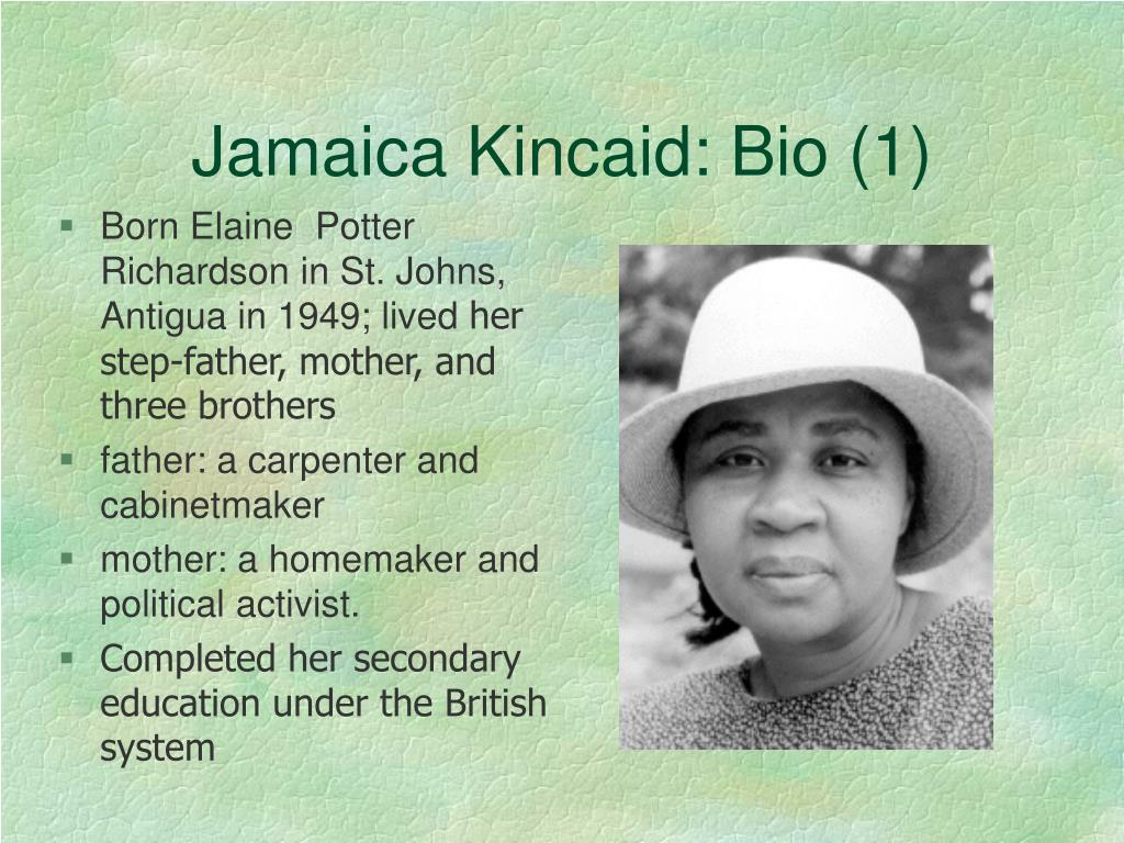 Jamaica Kincaid: Bio (1)