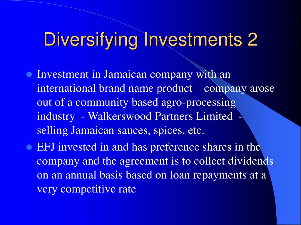 Diversifying Investments 2