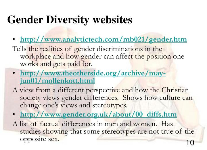 Gender Diversity websites