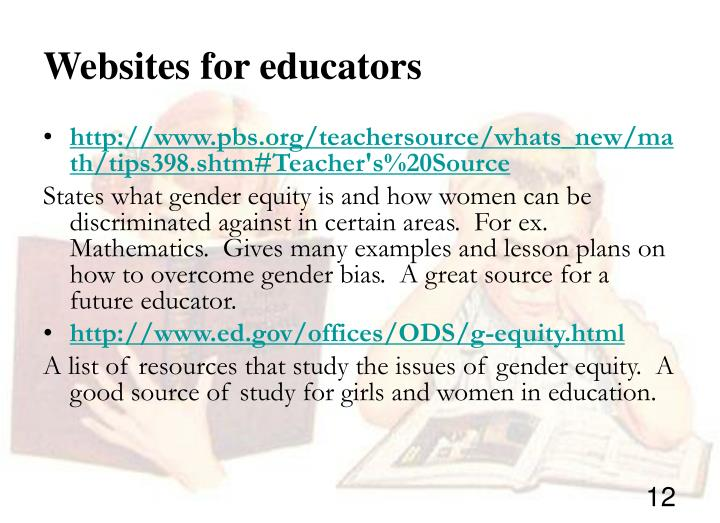 Websites for educators