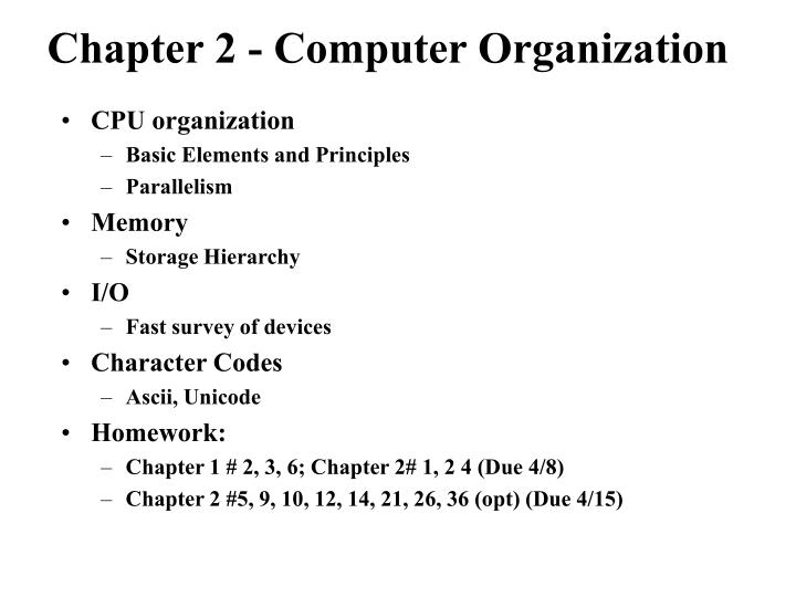 Chapter 2 computer organization