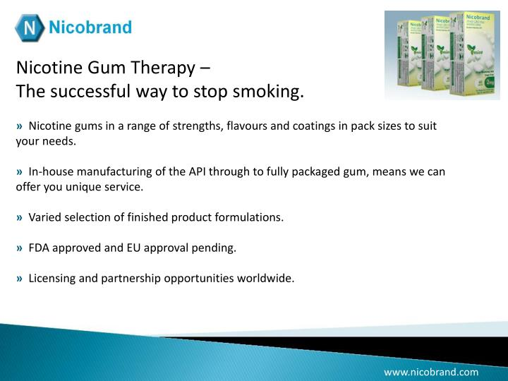 Nicotine Gum Therapy –